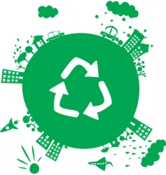 Recycle planet vector