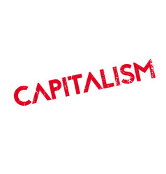 Capitalism rubber stamp vector