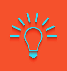 Light lamp sign whitish icon on brick vector