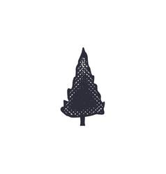 Monochrome tree shape icon vintage hand drawn vector