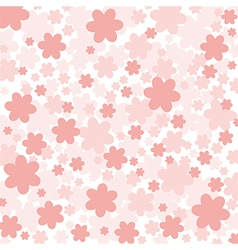 Background with pink flowers vector
