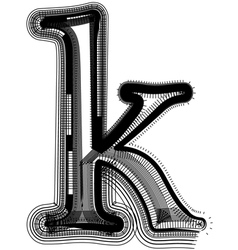 abstract font letter k vector image