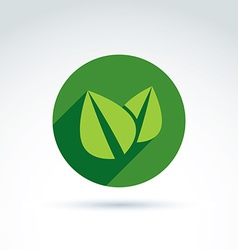 Ecology icon for nature and environment vector