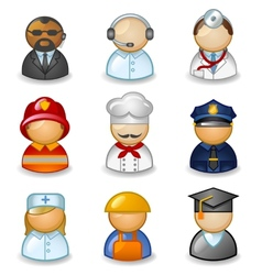 Avatars as different professions vector image