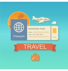 Modern flat design web icon on airline vector