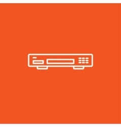 Video recorder line icon vector