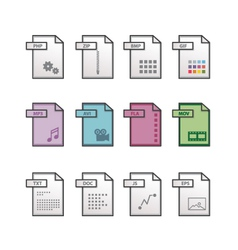 File extension icons vector