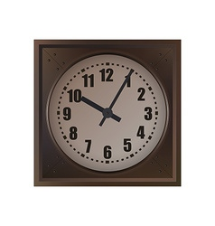 Wall Clock isolated on white background vector image