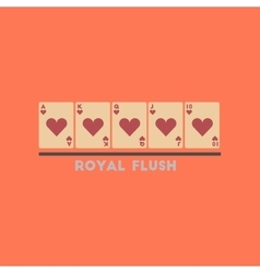 flat icon on stylish background royal flush vector image