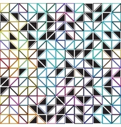 abstract geometric colored - triangle grid vector image vector image