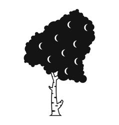 Birch icon simple style vector