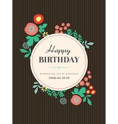 Birthday card design Flower vector image