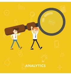 Business concept tool for business analytics vector image