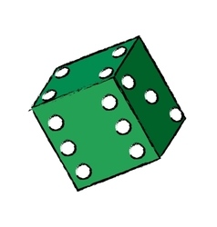 Casino dice concept vector