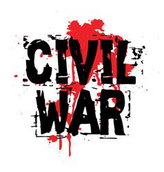 Civil war sticker vector