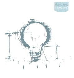 Construction big idea concept drawn sketch vector image