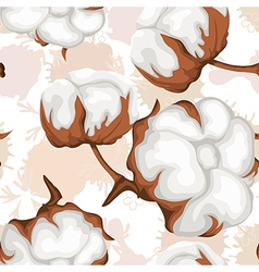 Cotton buds branch Seamless pattern vector image