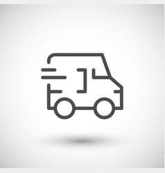 Delivery line icon vector