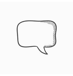 Empty speech square sketch icon vector image vector image