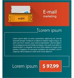 Flat minimalist template business design Email vector image vector image