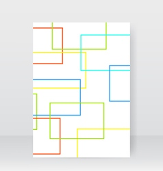 Flyer for design abstract geometric rectangles vector