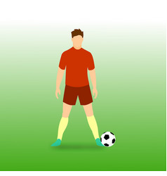 Free kick stance football player vector