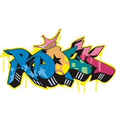 Graffito - rock vector