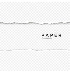Horizontal seamless torn paper edge rough broken vector