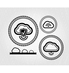 lables stamps tags cloud connection concept vector image vector image