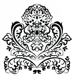 Lace floral element vector