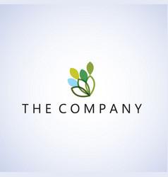 Leaf logo on background vector