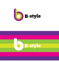 modern abstract logo B letter logotype vector image vector image
