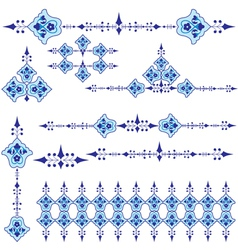Oriental ottoman design three vector