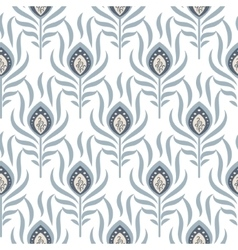 Peacock pastel blue seamless pattern vector
