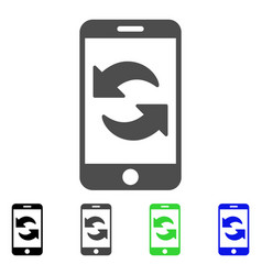 Refresh smartphone flat icon vector