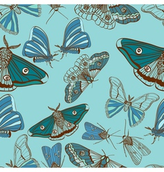 seamless moth background vector image vector image