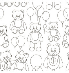 set of bear icon pattern vector image vector image