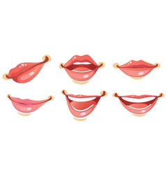 Sexy woman smile lips vector