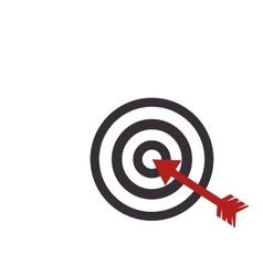Target arrow dartboard vector