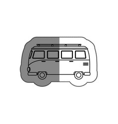 tourism van vehicle icon vector image vector image