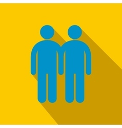 Two male flat icon with shadow vector