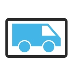 Van Framed Icon vector image