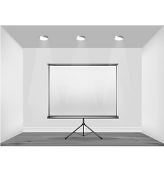 white wall with billboard vector image vector image