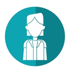 Woman doctor occupational medical work with shadow vector