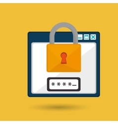 Laptop virus safe security vector