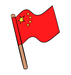 Flag of china icon cartoon vector