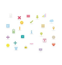 Web icons 10 vector image