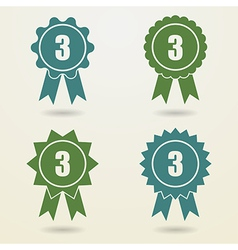 Set of badges with ribbons set of awards with vector