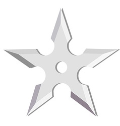 Ninja throwing star vector