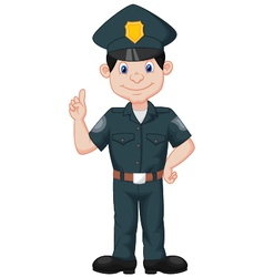 Policeman in uniform vector
